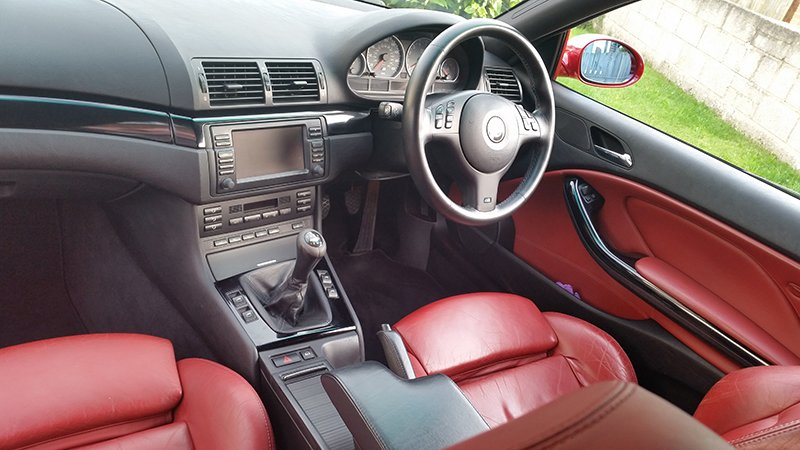 M3 Imola Red Leather Interior.