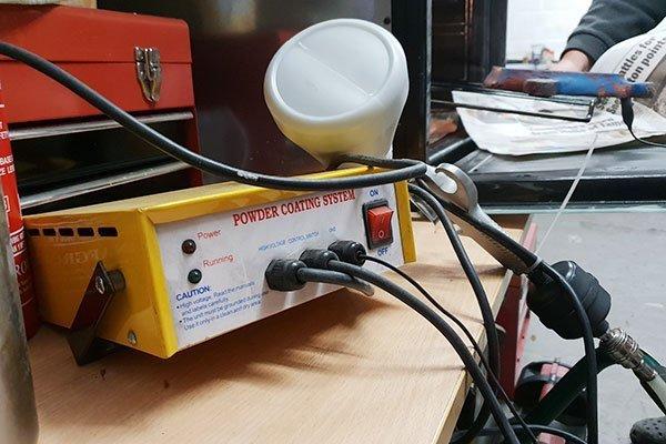 DIY powder coating kit for home use.