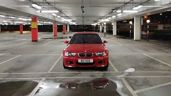 Driving the E46 M3 in a city environment.