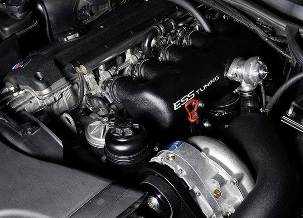 ESS supercharger kit fitted to the S54 engine.