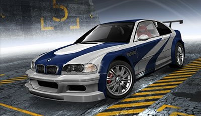 The M3 GTR featured in the video game Need for Speed.