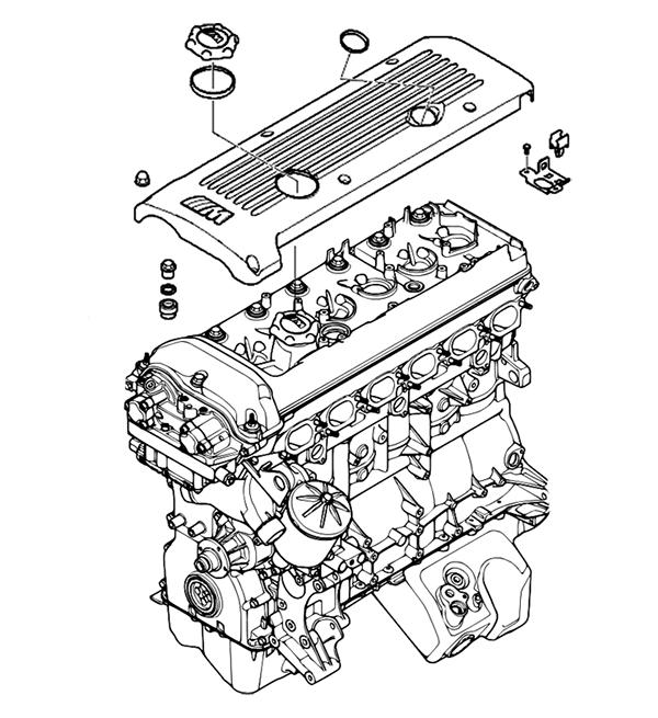 S54B32 Engine diagram.