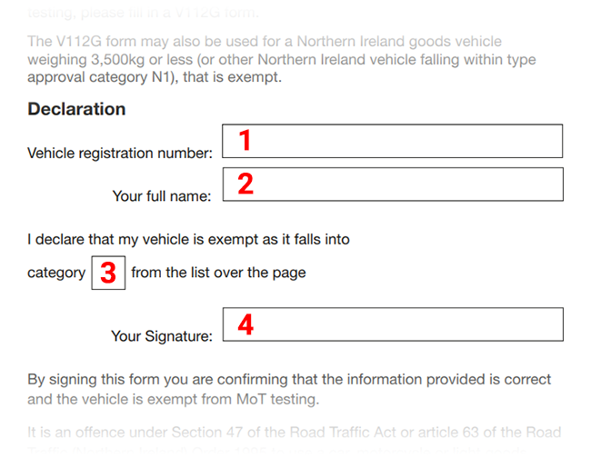 How to fill in the V112 form from the DVLA