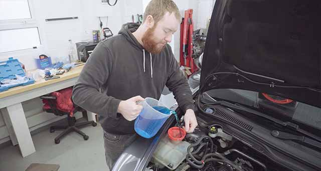 How to replace coolant for an engine.