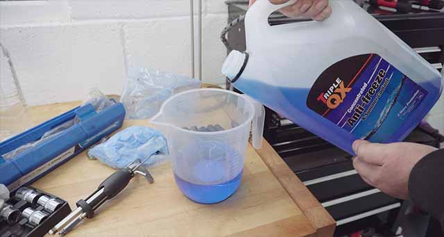 What to mix coolant with - softened water.